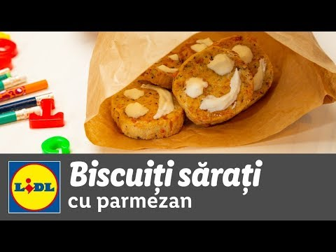 Biscuiti sarati cu parmezan • reteta Bucataria Lidl