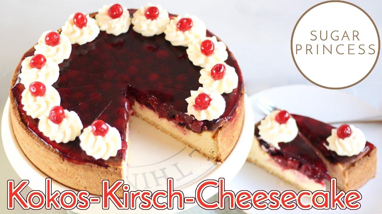 Raffinierte Kirschtorte mit Quark-Creme | Kirsch-Käsekuchen | Cheesecake | Rezept von Sugarprincess