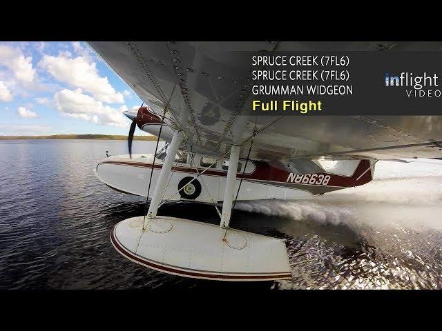 Grumman Widgeon Seaplane Full Flight with Water Landings | Spruce Creek, Florida