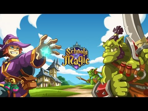 Schools of Magic - Android IOS App (By DIGITAL THINGS SL) Gameplay Review [HD+] #01 Lets Play