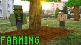 Monster School in Real Life: Farming - Minecraft Animation