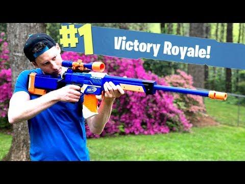 NERF Mod: Fortnite Battle Royale Bolt Sniper Nerf Gun Mod IN REAL LIFE With Aaron Esser