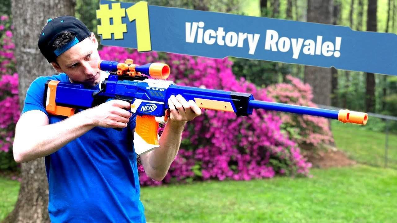 Nerf Mod Fortnite Battle Royale Bolt Sniper Nerf Gun Mod In Real Life With Aaron Esser Youtube