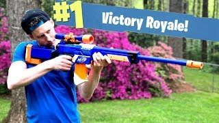NERF Mod: Fortnite Battle Royale Bolt Sniper Nerf Gun Mod IN REAL LIFE With Aaron Esser