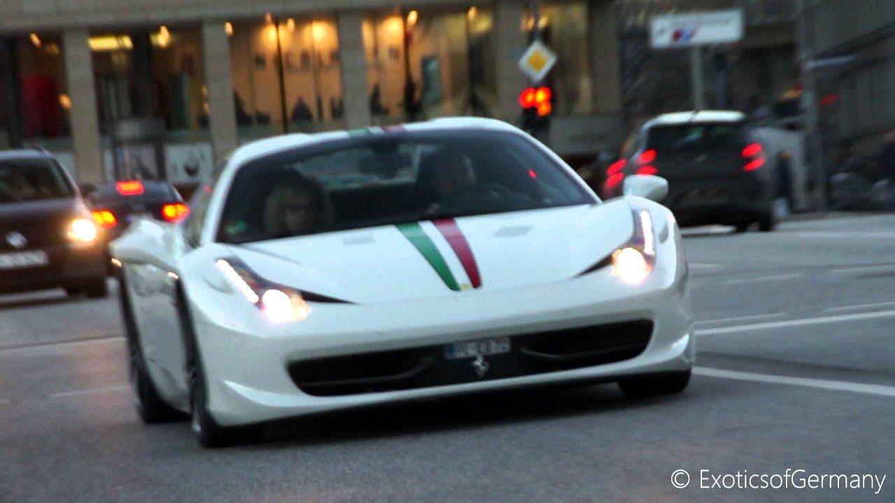 Ferrari Italia 458 >> MODIFIED Ferrari 458 Spider - Loud Sound in Hamburg - YouTube