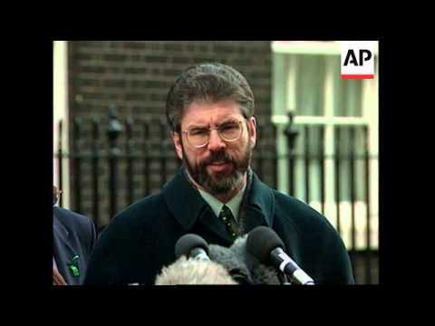UK: LONDON: SINN FEIN LEADER GERRY ADAMS VISIT UPDATE
