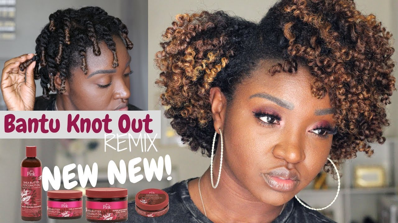 Bantu Knot Out REMIX   NEW Luster's Pink Shea Butter Coconut Oil Collection