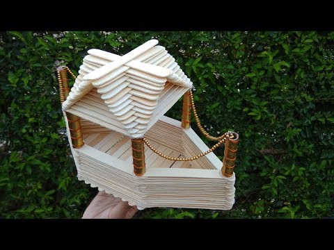 A Boat House made from popsicle sticks - How to make