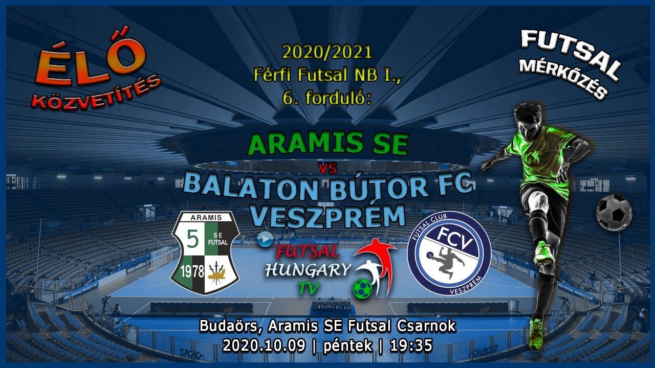 Férfi Futsal NB I: Aramis SE - Balaton Bútor FC Veszprém (2020.10.09, stream)