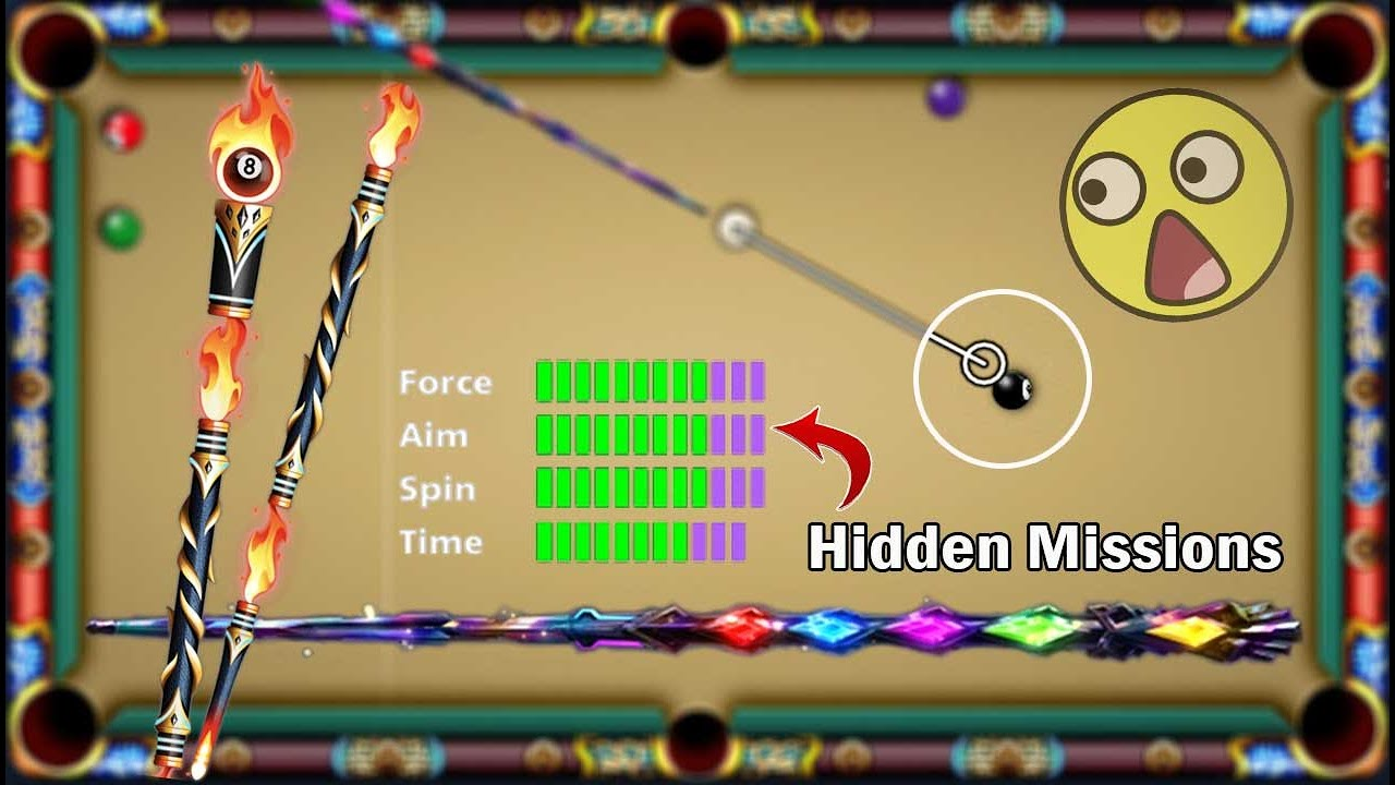 8 ball pool Hidden Missions 😍 Bismuth Cue Level 36 And Rewards