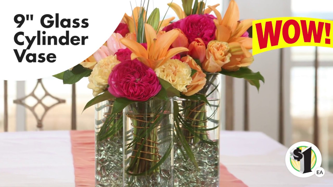 Glass Cylinder Vases 9 In Youtube