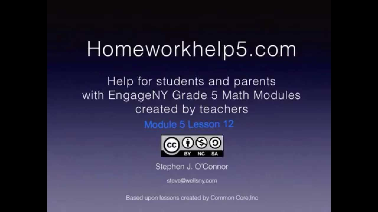 Grade 5 EngageNY Eureka Math Module 5 Lesson 12 by Homework Help 5
