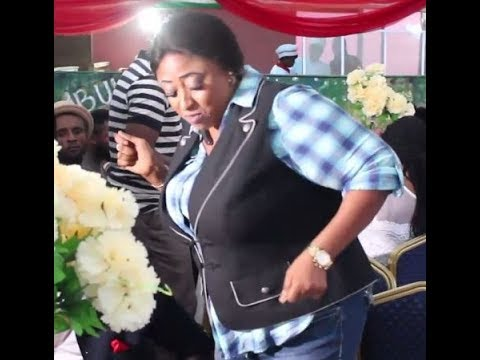 See How Ronke Oshodi-Oke And Iyabo Ojo Danced To Olamide's WO At The Launch Her  Abula Spot