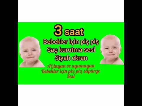 Piş piş ve saç kurutma makinesi sesi | 3 saat #babies #baby #lullaby #kolikbebek #pişpiş #ninni
