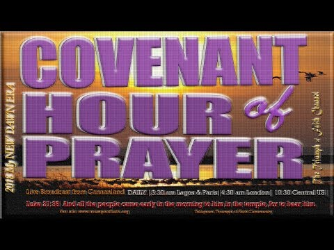 Live Service: Watch the Covenant Hour Of Prayer Service, March 9, 2018 with Bishop David Oyedepo
