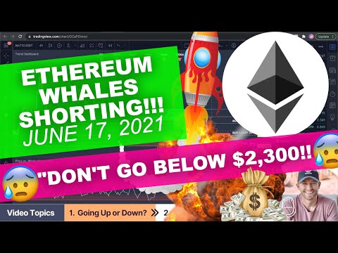 """ETHEREUM – """"Don't Go Below $2,300!!"""", Whales Shorting Strong!!?"""