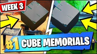 VISIT A MEMORIAL TO A CUBE IN THE DESERT OR BY A LAKE *ALL CUBE MEMORIAL LOCATIONS (FORTNITE WEEK 3)