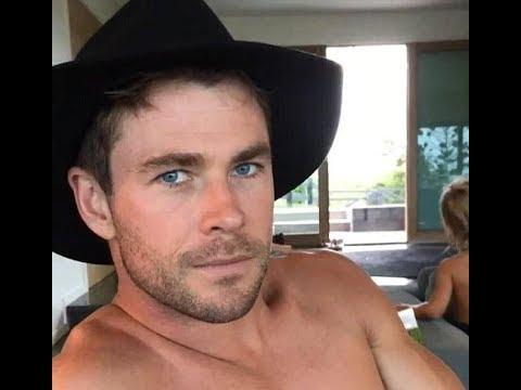 Shirtless Chris Hemswo...