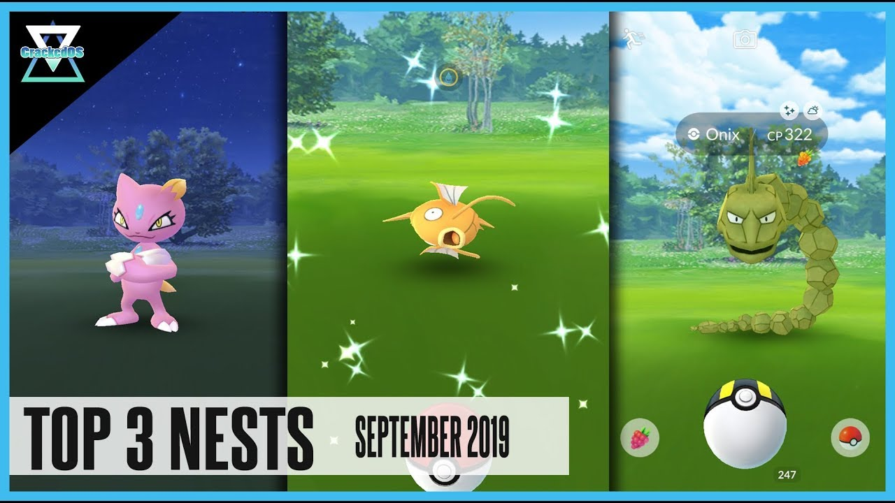 TOP 3 BEST SHINY NEST COORDINATES IN POKEMON GO | Magikarp, Onix & Sneasel  | September 2019