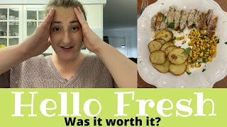 The WORST cook of all time tests out HELLO FRESH honest review |The Olsen Family