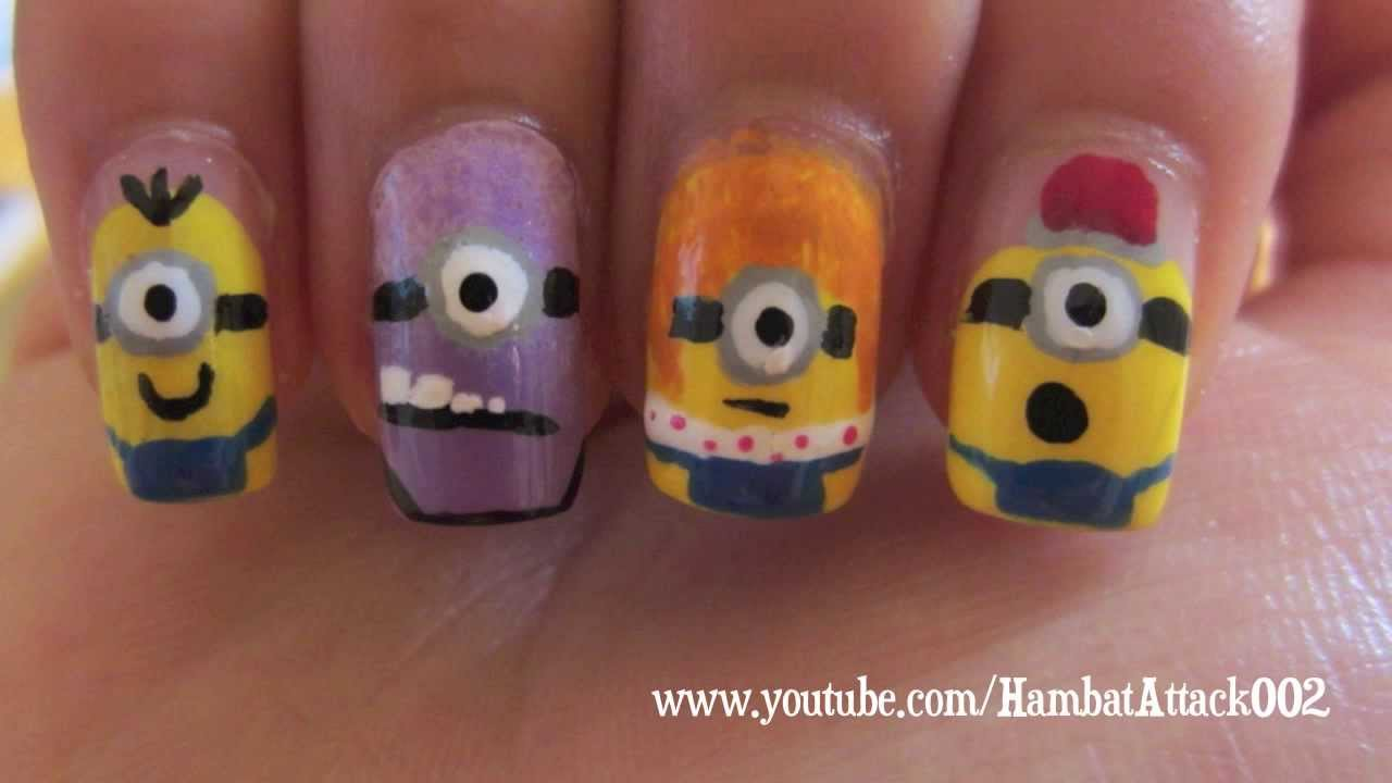 Despicable Me 2 Minion Nails - YouTube