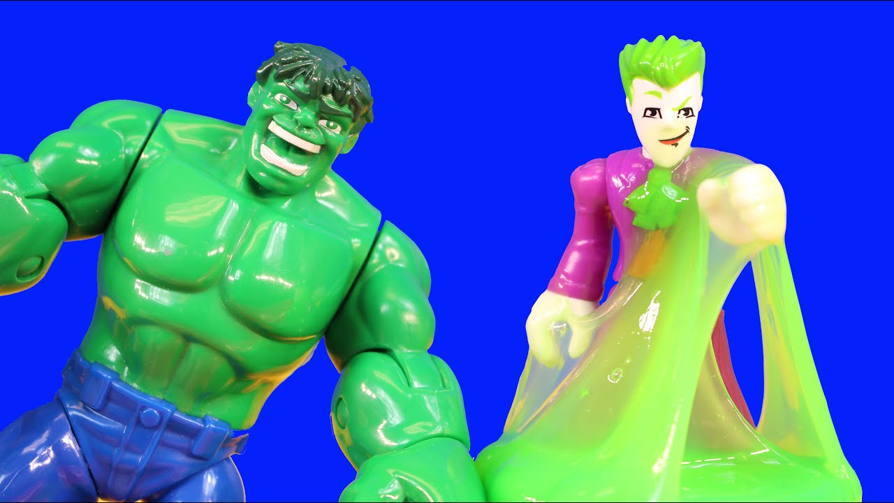 The Hulk Vomits On Imaginext Joker Bad Guys And Disney ...