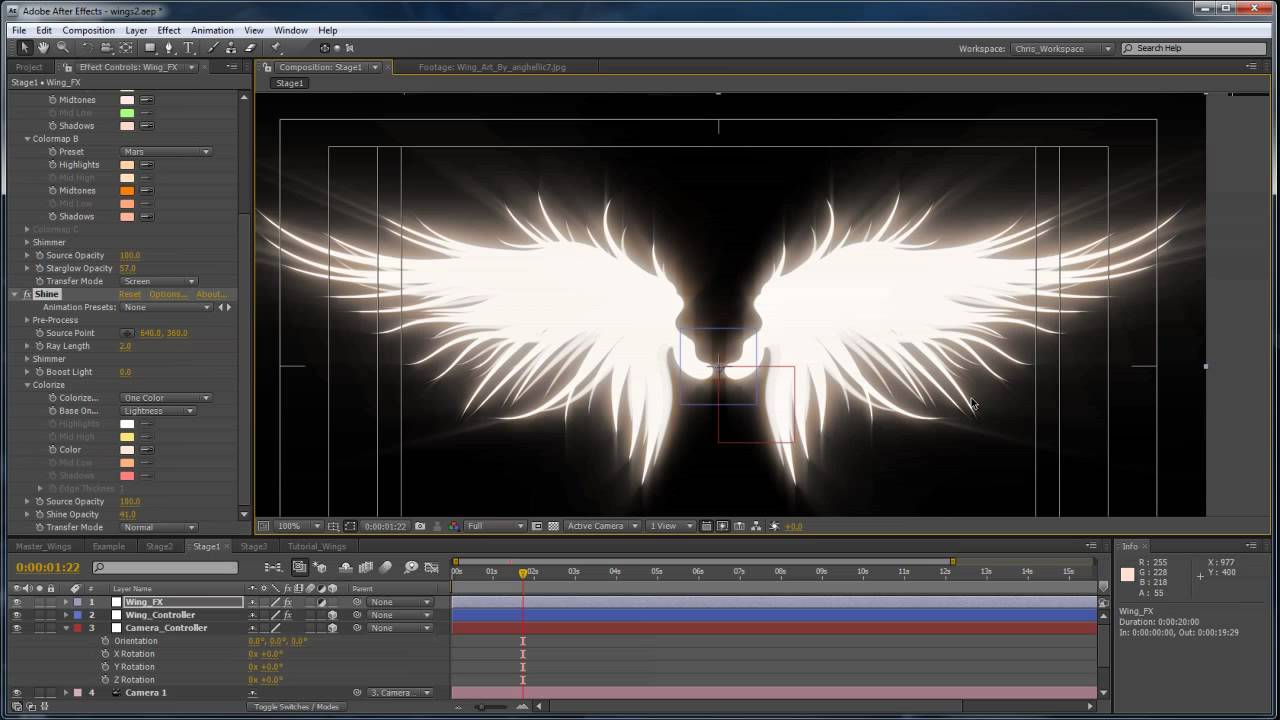3d Effect Live Wallpaper Advanced Angel Wings In After Effects Part 2 Youtube