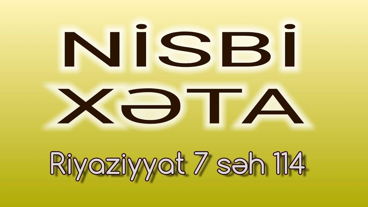 RİYAZİYYAT 7 / SƏH 113 / MÜTLƏQ XƏTA / #ŞTANGENPƏRGAR