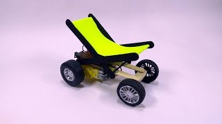How To Make A Remote Control Smart WheelChair ( Model - Science Project )