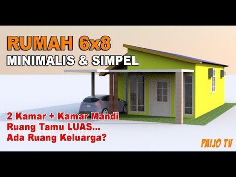 Desain Rumah Minimalis Ukuran 6x8  rumah minimalis sederhana ukuran 6x8 meter desain rumah