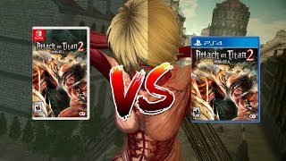 Nintendo Switch  vs. PS4 - Attack on Titan 2 Graphics Comparison