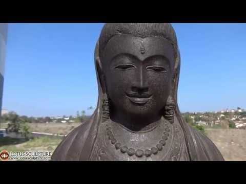 Meditating Kwan Yin Garden Statue www.lotussculpture.com