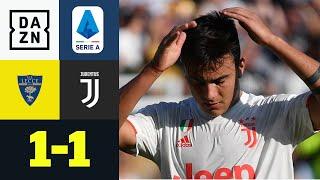 Lecce klaut Tabellenführer Juve zwei Punkte: Lecce - Juventus 1:1 | Serie A | DAZN Highlights