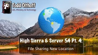 macOS High Sierra & Server 5.4 Part 4: File Sharing New Location