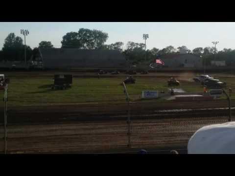 USAC Midgets Heat 2  Kokomo Speedway