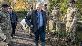 Party leaders visit flooded areas in England