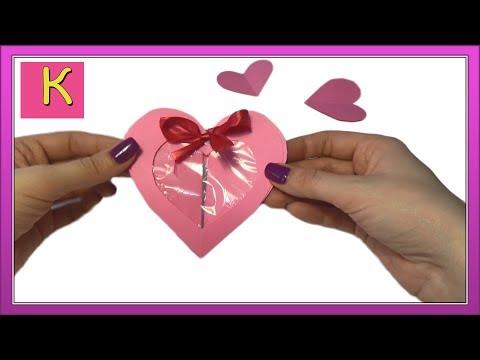 Валентинка своими руками за 5 минут! Подарок на День Святого Валентина St Valentine's Day - Видео с Ютуба без ограничений