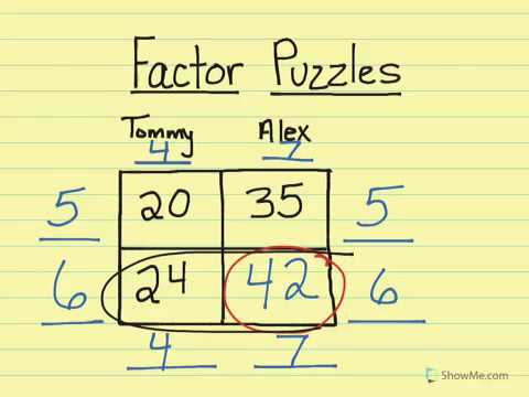 Lesson 1-10 factor puzzles and proportions - YouTube