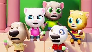RUN! RUN! RUN! TALKING TOM HERO DASH AND TALKING TOM GOLD RUN Talking Tom vs Talking Angela