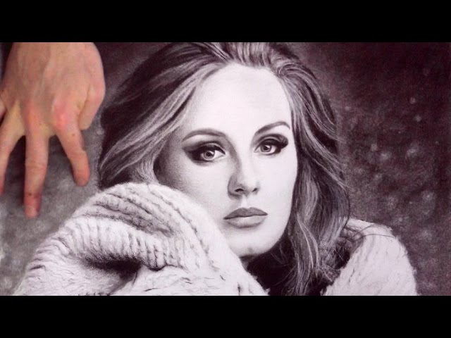 Adele Hello Drawing Upside Down Disegnando Sottosopra Youtube