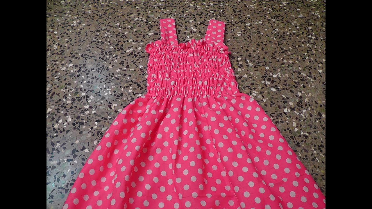 Kids Cotton Shiirred Frock Cutting And Stitching Youtube