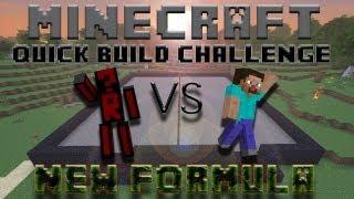 Minecraft Quick Build Challenge - New Formula! (1v1 on Voice, Bonus Ep!)