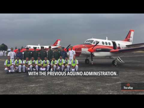 Japan turns over two TC-90 patrol aircraft to the Philippine Navy