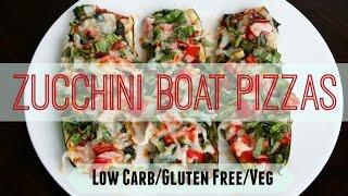 Zucchini Boat Pizza - Low Carb/Gluten Free/Veg