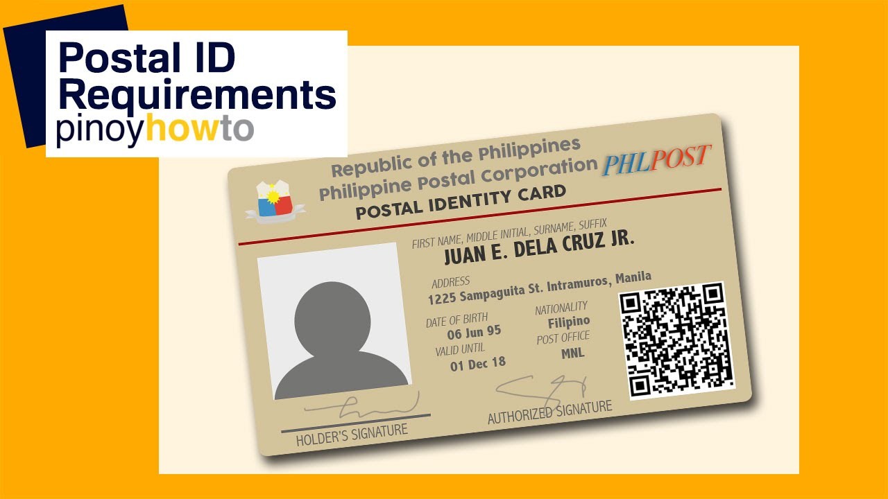 Get Postal Youtube Id How Pinoyhowto To And Its - Requirements