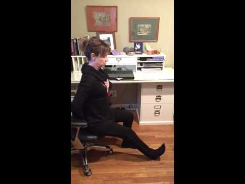 office chair yoga hamstring stretch in chair  youtube