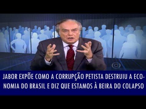 Jabor expõe como a corrupção petista destruiu a economia do Brasil e diz que estamos à beira do co..