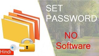 How to put password on folder in Windows 10, 8, 7  Without any software....Full Tutorial