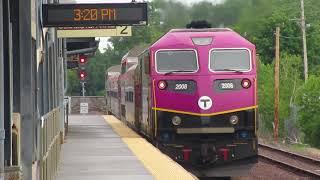 Long MBTA Trains