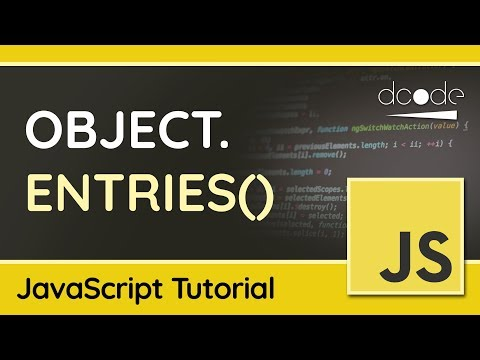 Looping Over Objects in JavaScript with Object.entries() - JavaScript Tutorial thumbnail